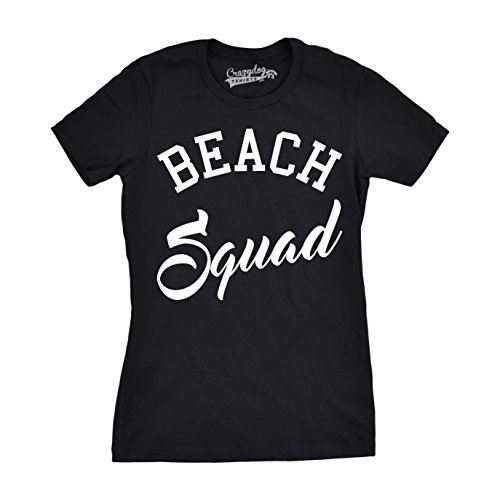Crazy Dog TShirts - Womens Beach Squad Funny T shirts Summer Awesome Tees Hilarious Novelty T shirt - Camiseta Para Mujer