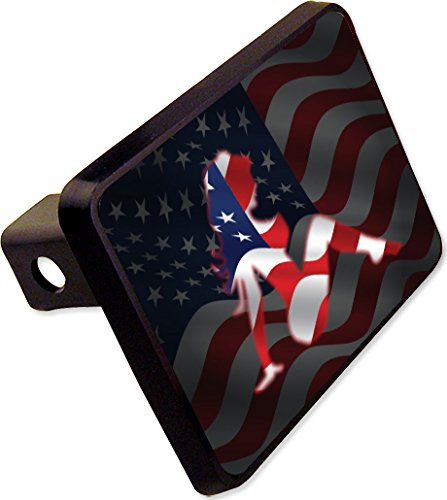 Flap Mud American Flag (Mud Flap Girl Trailer Hitch American Flag Cover Plug Novelty)