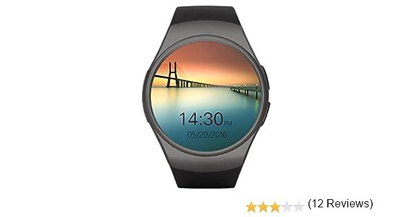 Smart Watches, HuiHeng Relojes inteligentes Bluetooth Smart Watch Para iOS iPhone Android Samsung LG KW18 Reloj inteligente con Cámara Remota Tarjeta ...