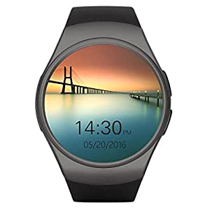 Smart Watches, HuiHeng Relojes inteligentes Bluetooth Smart Watch Para iOS iPhone Android Samsung LG KW18 Reloj inteligente con Cámara Remota Tarjeta de apoyo cardíaco SIM TF para hombres de negocios Mujer