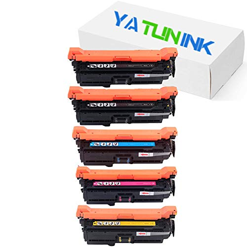 (YATUNINK Compatible Toner Cartridge Replacements for HP CE250A-CE253A 504A Toner Cartridges Color Laserjet CP3520, CP3530 Series Printer(5 Pack))