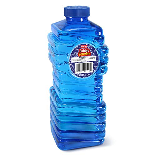 Kidzlane Bubble Solution Refill (68 oz.) Large, Easy-Grip Bottle | for Toy Guns, Wands, Electric Machines | Ages 3+