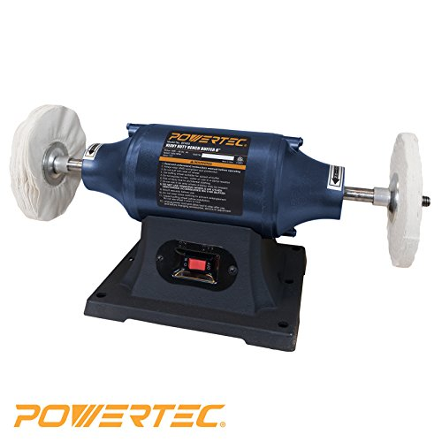 POWERTEC BF600 Heavy Duty Bench Buffer, (Speed Induction Motor)