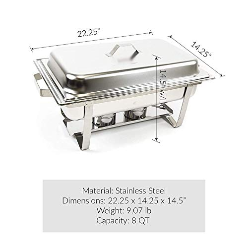 Alpha Living 8QT Chafing Dish High Grade Stainless Steel Chafer Complete Set by Alpha (Image #3)