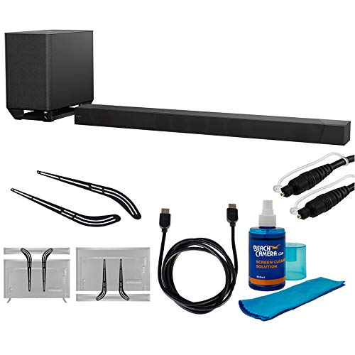 "Sony 7.1.2ch 800W Dolby Atmos Sound Bar (HT-ST5000) with Soundbar Bracket 23"" - 55"", 6ft HDMI Cable, 6ft Optical Audio Cable & Universal Screen Cleaner for LED TVs"