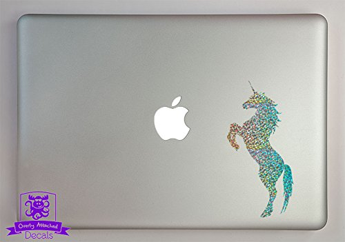 Overly Attached Decals Rearing Unicorn Specialty Vinyl Decal