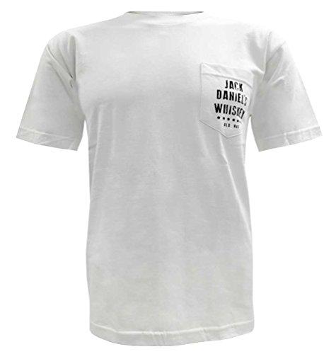 Jack Daniels Men's Daniel's Vintage Whiskey Short Sleeve T-Shirt White XX-Large