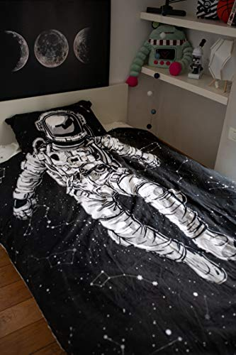 Kids Bed Sheets | Galaxy Astronaut Design | Twin XL Size | Interactive Mixed Reality Child's Bedding