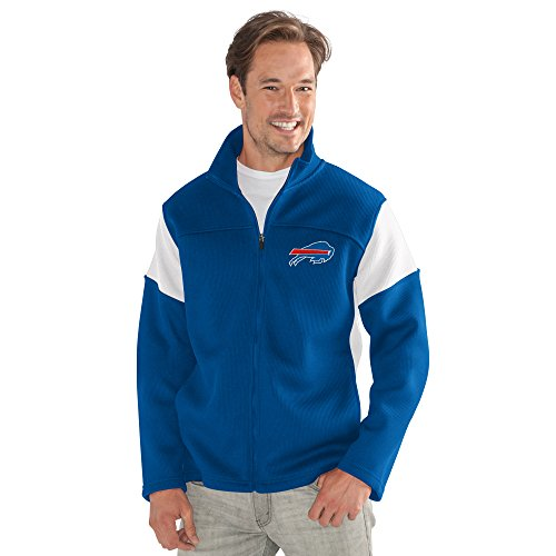 G-III Sports NFL Buffalo Bills Adult Men Halftime Full Zip Jacket, Large, (Buffalo Bills Mens Jackets)