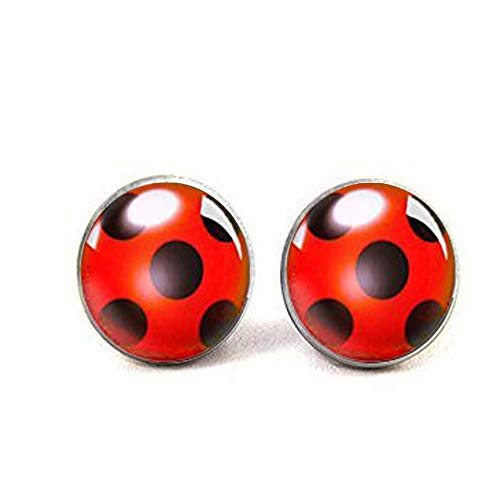 Ladybug Charm Ladybug Earrings Ladybird Design Bug Earrings Ladybird Earrings Silver Bug Earrings Ladybird Jewellery Ladybug Jewellery (Ladybug Resin Earrings)