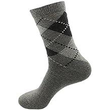 BONAMART ® Men Argyle Tube Socks Thick Cashmere Blend for Winter 39-45