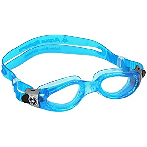 Aqua Sphere Kaiman Swim Goggle (Small, Clear Lens/Blue Frame)