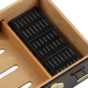 Pevor Black humidor Cigar Cabinet high-Quality Multiple Lacquer Finish Cedar Wood 3 Cigarette Storage Box case Lighter by Pevor (Image #3)