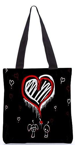 """Snoogg Weltbeste Liebe Taschen 13,5 X 15 In """"Einkaufstasche Dienstprogramm Trage Von Polyester Canvas"""