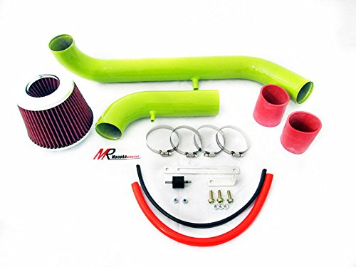 95 96 97 98 99 Mitsubishi Eclipse 2.0 L4 N/A GREEN Piping Cold Air Intake System Kit with Red Filter by Monoka Racing