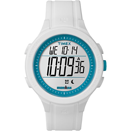 Timex TW5M14800 Ironman Essential Urban Digital 43mm Watch (White/Blue)