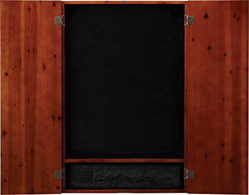 Wood Dart Case - Viper Metropolitan Solid Wood Electronic Soft Tip Dartboard Cabinet: Cabinet Only (No Dartboard), Cinnamon Finish