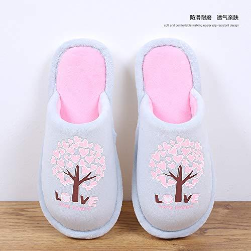 In Antiscivolo Grey Yhujh Cotone Pantofola Spugnato Home qxPwa1764w