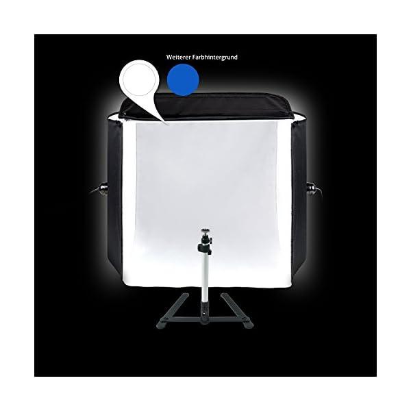 Mobile HAUSER & PICARD 200 Watt 40cm foto studio fotografico cubo luce con borsa e supporto per macchina fotografica… 4 spesavip