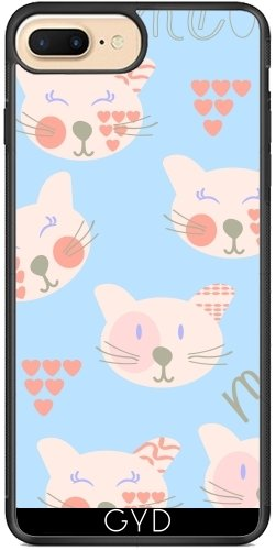 Coque Silicone pour Iphone 7 Plus / 8 Plus - Chats Motif by Luizavictorya72