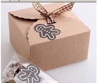 Saasiiyo 20 Kraft Paper Cake Box, Bakery Gift / Christmas Cookie Favor Wedding Candy Boxes