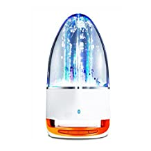 Creative seven lights dancing water fountain water acoustics wireless bluetooth card speaker mini computer subwoofer Colorful bluetooth speakers(orange)