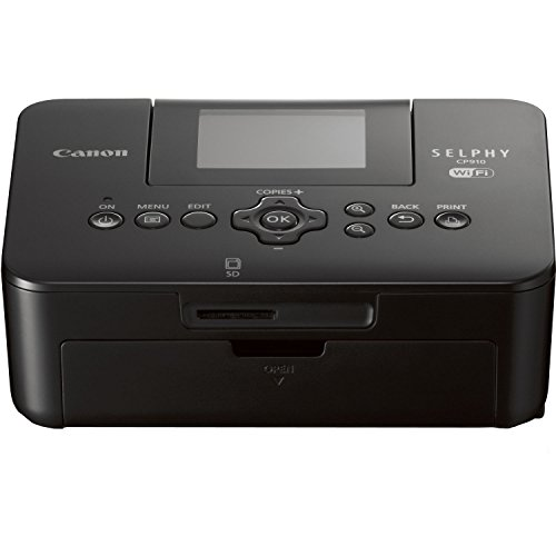 Canon SELPHY CP910 Compact Photo Color Printer, Wireless, Portable (Black) (Discontinued By Manufacturer) by Canon