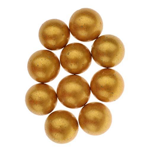 Blesiya 10x Canicas De Cristal Perlas De Vidrio Juego De Tira De Bolas Ornamento Para Jarrón Jardín 25mm - Amarillo, 25mm