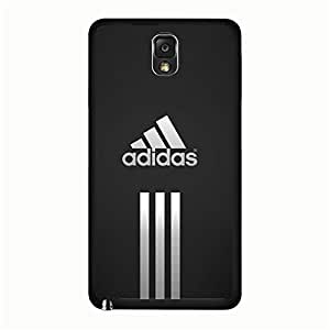 Classical Simple Adidas Samsung Galaxy Note 3 N9005 Phone Case, Premium Adidas Brand Logo Phone Case Cover for Samsung Galaxy Note 3 N9005