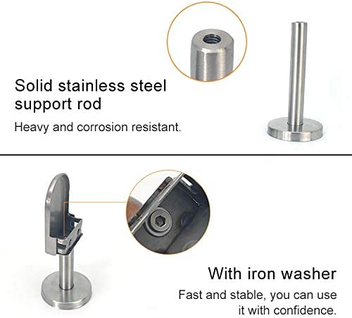 Specification Bathroom balcony glass fixing clip 304 Stainless Steel Glass Fish Mouth Support Rod Fixing Clip with 14x60mm Rod S