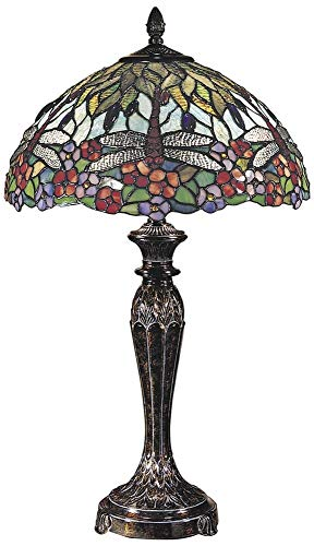 Dale Tiffany TT100588 Lydia Table Lamp, 29' x 17' x 17', Fieldstone