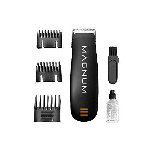 Magnum by LIFE - Men's Groomer - Pro Grade Cordless Trimmer - 5 O'Clock and Sideburns Guides - AA Battery Freedom by LIFE