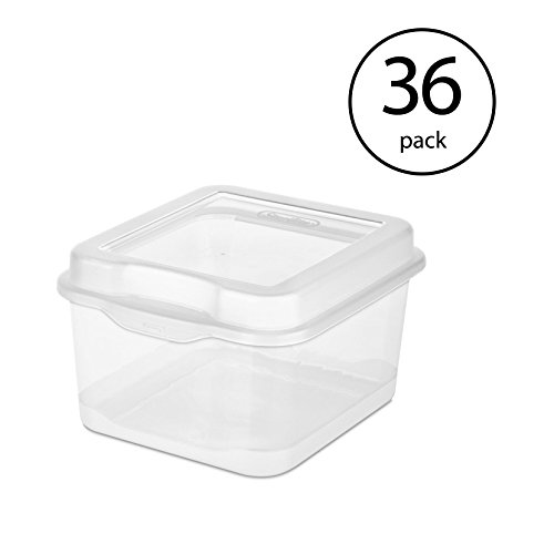STERILITE Single 18038612 Plastic FlipTop Latching Storage Box Container Clear (36 Pack)