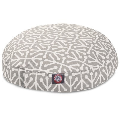 Gray Aruba Large Round Indoor Outdoor Pet Dog Bed With Removable Washable Cover By Majestic Pet Products