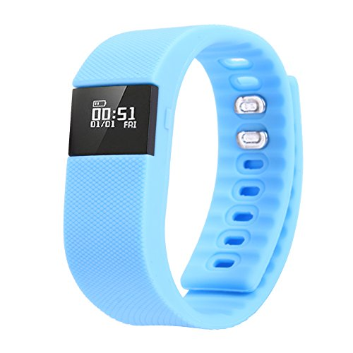 Hiro23 Best Fitness Activity Tracker Watch, Pedometer, Step Counter, Calorie Counter, Distance, Sleep Monitor, Bluetooth 4.0 for Android 4.4 or IOS 8.0 and above ONLY. (blue)