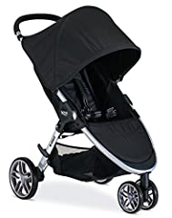 The B Agile Stroller gives you the freedom to get where you need to go. The B Agile Stroller will not weigh you down thanks to its lightweight aluminum frame. Designed with multi tasking parents in mind, the 3 wheel configuration for smooth m...