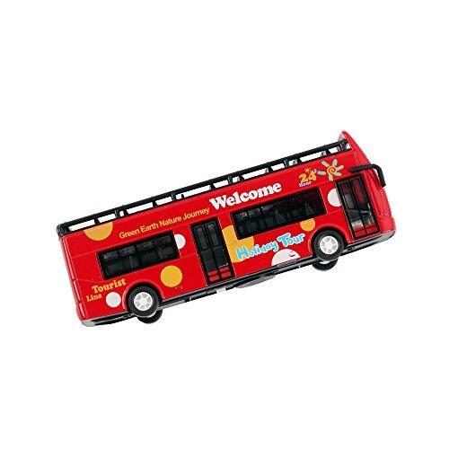 Urfashion 1 32 Red Double Decker Bus Alloy Car Model Tour