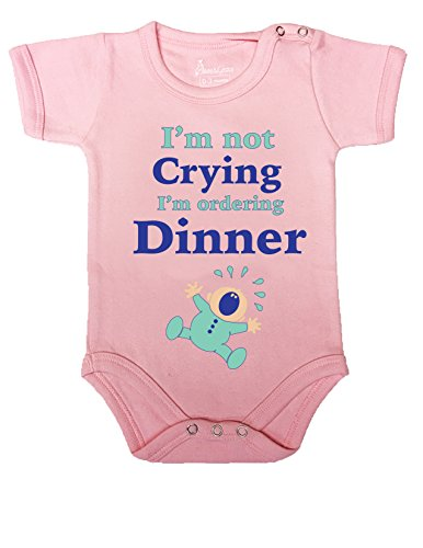 N#6 BABY ROMPER SHORT ONESIE UNISEX FUNNY I'M NOT CRYING GIFT WRAPPED A&G BRAND (0-3, L (Juegos De Top Baby Games Halloween)
