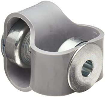 "Huco 047.20.2222.Z Size 20 Flex-P Double Loop Elastomer Coupling, Hytrel with Steel Hubs, Inch, 0.236"" Bore A, 0.236"" Bore B, 0.79"" OD, 1.89"" Length, 20.09 in-lbs Max Torque"