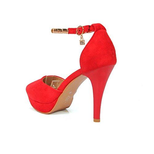 AdeeSu 5 Red Compensées Sandales SLC04077 36 Femme Rouge g08rgq4