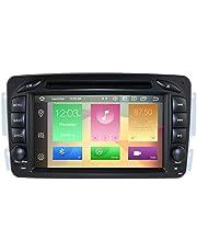 hizpo Android 10 Auto-Stereo DVD-speler 7 inch Autoradio RAM 4G ROM 64G GPS-navigatie voor Mercedes-Benz C-W209 / C-W203 / Viano/Vito/Vaneo/A-W168 / G-W463 / CLK-C209 / W209