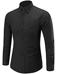 Top Blouse,Mens Long Sleeve Oxford Formal Casual Suits Slim Fit Tee Dress Shirts Blouse Top