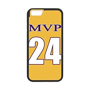 NBA MVP NO.24 Jersey Golden PC PC Cover Case for Iphone 6 4.7''