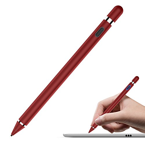 Red Pen Aluminum Stylus for iPhone/Smartphone/Tablets