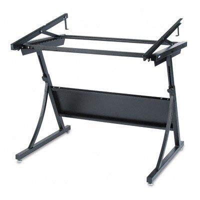 Safco PlanMaster Adjustable Drafting Table Base – 37.5″ – Steel – Black Base, Office Central