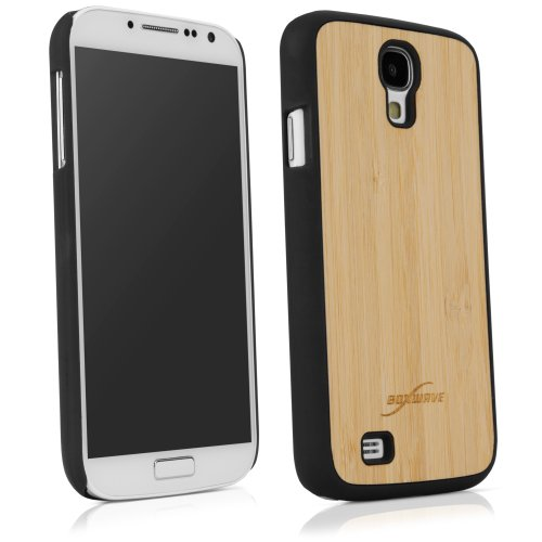 BoxWave True Bamboo Minimus Galaxy S4 Case, Genuine Bamboo Wood Backing Shell Case Cover with Durable Plastic Edges with Smooth Matte Finish (Jet Black)