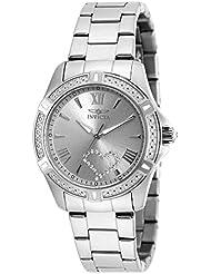 Invicta Womens Angel Steel Bracelet & Case Quartz Silver-Tone Dial Analog Watch 20321