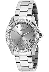 Invicta Women's Angel Steel Bracelet & Case Quartz Silver-Tone Dial Analog Watch 20321