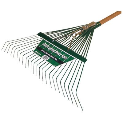 Midwest 40912 Heavy Duty Spring Brace Rake with Handle, ()