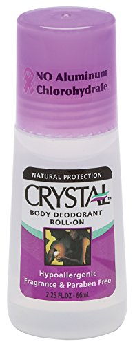 CRYSTAL BODY DEODORANT Roll-On - Unscented (2.25 fl oz) - 3 Pack